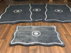 ROMANY WASHABLES TRAVELLER MATS SETS NON SLIP LARGE SIZE, BEST QUALITY, CHARCOAL